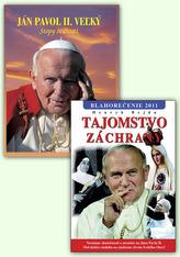 Balíček 2 ks Ján Pavol II. Vežký Stopy svätosti Tajomstvo záchrany Blahorečenie