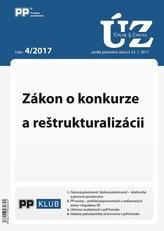 UZZ 4/2017 Zákon o konkurze a reštrukturalizácii