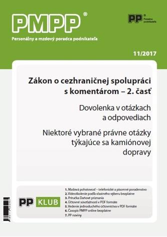 PMPP 11/2017 Zákon o cezhraničnej spolupráci s komentárom - 2.časť