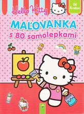 Maľovanka s 80 samolepkami (Hello Kitty)