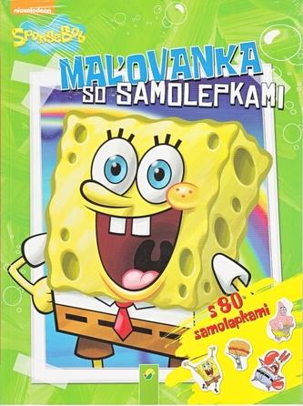 SpongeBob -Maľovanka s 80 samolepkami