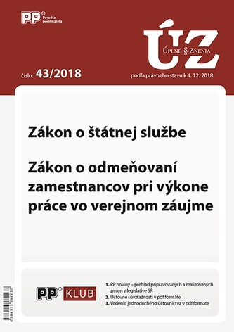 UZ 43 2018 Zákon o štátnej službe 71dedd5bc8e