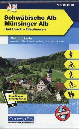 Kümmerly & Frey Outdoorkarte Schwäbische Alb, Münsinger Alb